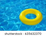 colorful inflatable tube... | Shutterstock . vector #635632370