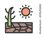 drought | Shutterstock .eps vector #635633684