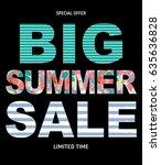 big summer sale abstract... | Shutterstock . vector #635636828