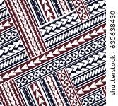maori style tribal design....   Shutterstock .eps vector #635638430