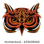 owl tattoo shape | Shutterstock .eps vector #635638460