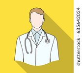 doctor.professions single icon... | Shutterstock .eps vector #635642024