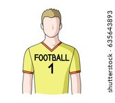 a man in a football uniform. a... | Shutterstock .eps vector #635643893