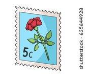 post stamp for sticking on... | Shutterstock .eps vector #635644928