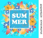 summer poster  banner  flyer....   Shutterstock .eps vector #635644949
