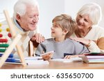 Happy Grandparents Helping...