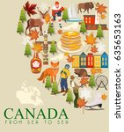 canada. canadian tradition... | Shutterstock .eps vector #635653163