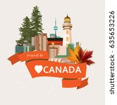canada. canadian tradition... | Shutterstock .eps vector #635653226