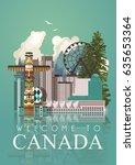 canada. canadian tradition... | Shutterstock .eps vector #635653364