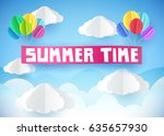 summer time flyer  banner or... | Shutterstock .eps vector #635657930