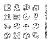 delivery line icons set. modern ... | Shutterstock .eps vector #635659643