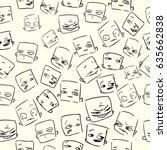 seamless vector pattern with... | Shutterstock .eps vector #635662838