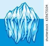 big iceberg in the sea vector... | Shutterstock .eps vector #635673104