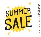 summer sale. flat vector... | Shutterstock .eps vector #635673830