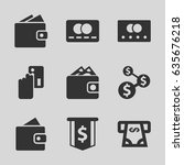 pay icons set. set of 9 pay... | Shutterstock .eps vector #635676218