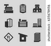 town icons set. set of 9 town...   Shutterstock .eps vector #635678456