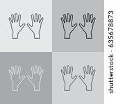 hand line icon vector | Shutterstock .eps vector #635678873