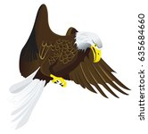 eagle flying in the sky | Shutterstock .eps vector #635684660
