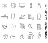 line business icons set of 20 | Shutterstock .eps vector #635684879