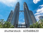 the twin tower city centre  ...   Shutterstock . vector #635688620