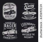 vintage sport cars vector pack... | Shutterstock .eps vector #635693114