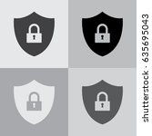 shield security icon. vector... | Shutterstock .eps vector #635695043