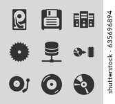 disk icons set. set of 9 disk...   Shutterstock .eps vector #635696894