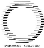 circle logo with lines.unusual... | Shutterstock .eps vector #635698100