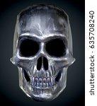 the vampire metal skull on dark ...   Shutterstock . vector #635708240