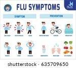 flu symptoms and influenza... | Shutterstock .eps vector #635709650