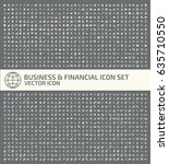 business and finance icon set... | Shutterstock .eps vector #635710550