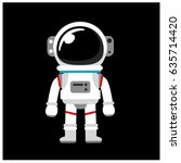vector astronaut  space suit... | Shutterstock .eps vector #635714420