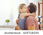 happy father's day  dad and his ... | Shutterstock . vector #635718254