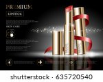 hydrating facial lipstick for... | Shutterstock .eps vector #635720540