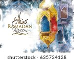 ramadan kareem greeting  ... | Shutterstock . vector #635724128