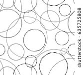 circle seamless with dots.... | Shutterstock .eps vector #635725808