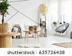 modern designed interior of... | Shutterstock . vector #635726438
