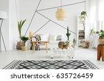 contemporary design of cozy... | Shutterstock . vector #635726459