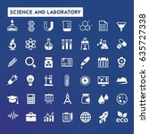 science and laboratory icon set | Shutterstock .eps vector #635727338