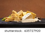 various types of cheese | Shutterstock . vector #635727920