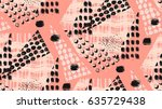 abstract unusual hand made... | Shutterstock .eps vector #635729438