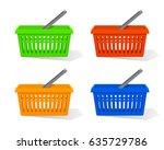 vector illustration. set of red ... | Shutterstock .eps vector #635729786