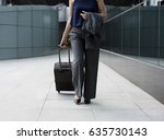 businesswoman traveler journey... | Shutterstock . vector #635730143