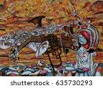 musical instruments  saxophone  ...   Shutterstock . vector #635730293