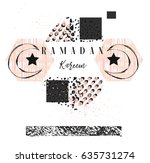 hand made vector abstract... | Shutterstock .eps vector #635731274