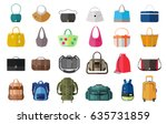 set of icons of bags and... | Shutterstock .eps vector #635731859