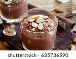 healthy raw vegan chocolate... | Shutterstock . vector #635736590