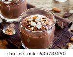 healthy raw vegan chocolate... | Shutterstock . vector #635736590