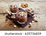 healthy raw vegan chocolate... | Shutterstock . vector #635736839