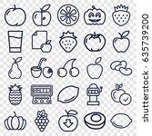 fruit icons set. set of 25...